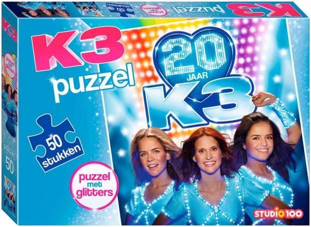Studio 100 legpuzzel K3 glitters 50 stukjes
