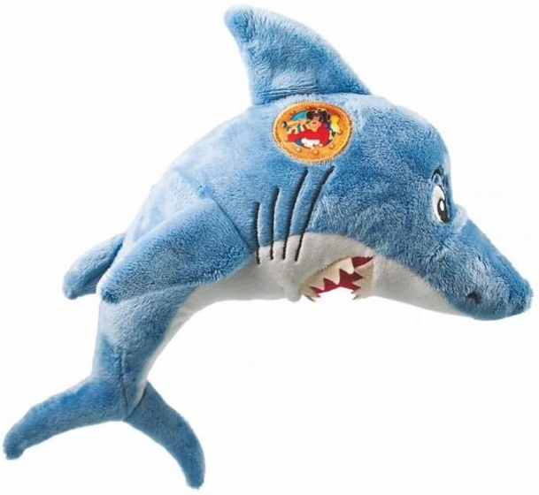 Studio 100 Piet Piraat haai pluche 30 cm lichtblauw