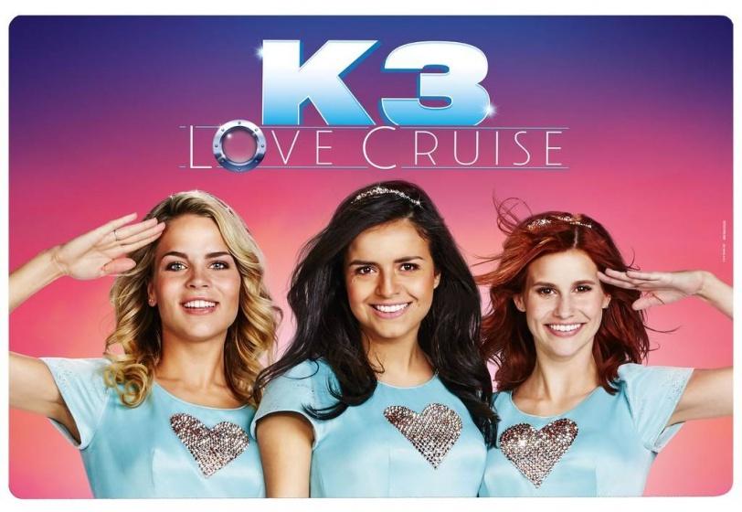 Studio 100 placemat K3 Love Cruise 41 x 29 cm roze