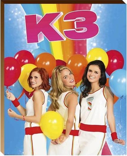 Studio 100 posterboard ballonnen K3 hout 40 x 50 x 3 cm