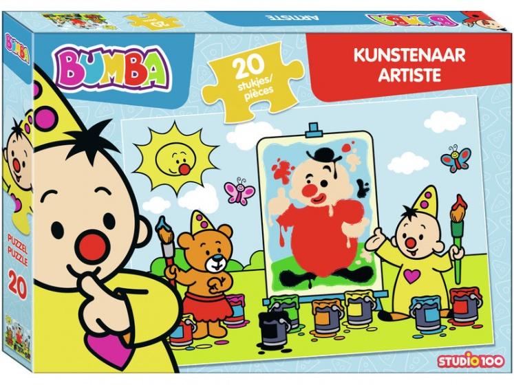 Studio 100 puzzel Bumba als kunstenaar junior 20 stukjes