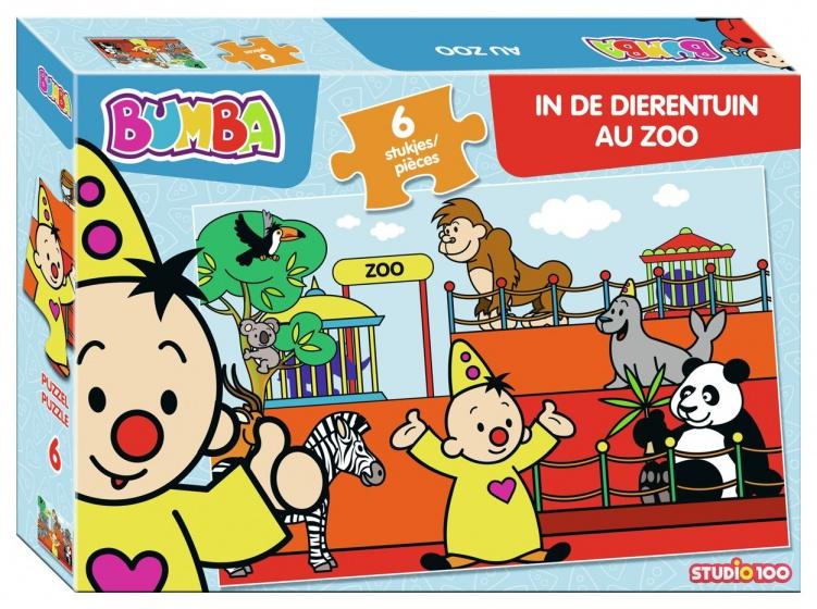 Studio 100 puzzel Bumba in de dierentuin 6 stukjes