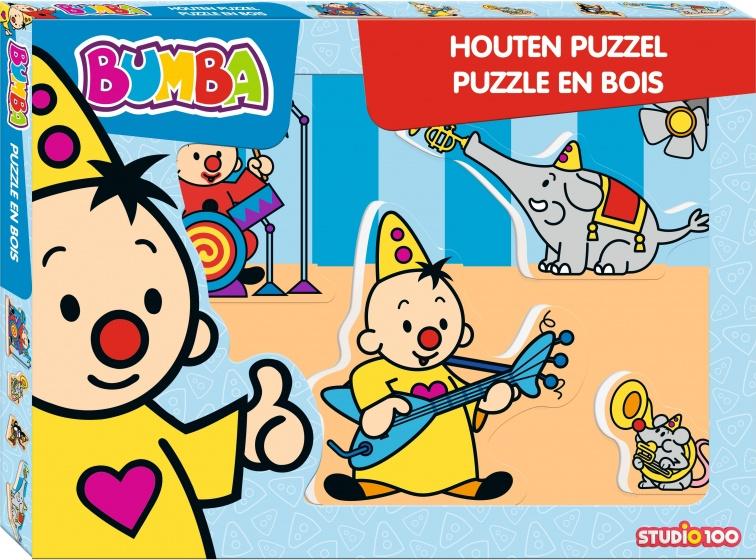 Studio 100 puzzel hout Bumba muziek 5 stukjes