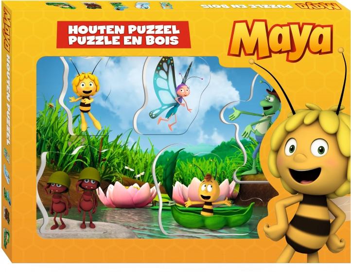 Studio 100 puzzel hout Maya de Bij 5 stukjes