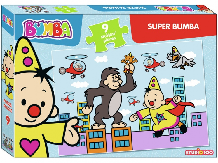 Studio 100 puzzel Super Bumba junior 9 stukjes
