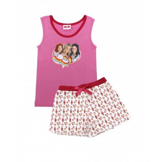 Studio 100 Pyjama K3 Star Meisjes Roze/Wit Maat 98/104