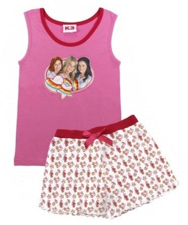 Studio 100 Pyjama K3 Star Meisjes Roze/Wit Maat 110/116