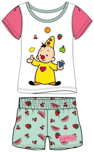 Studio 100 Shortama Bumba fruit roze/wit maat 98/104