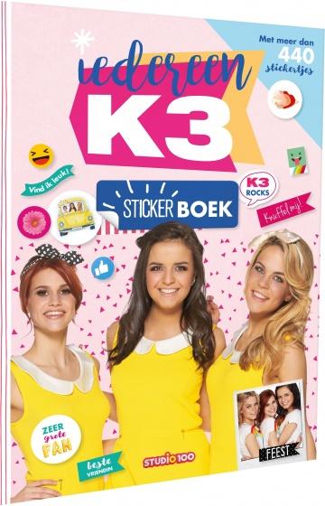Studio 100 stickerboek K3 meisjes 30 x 21 cm
