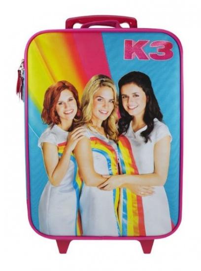 Studio 100 Trolley koffer K3 regenboog rood 16,8 liter