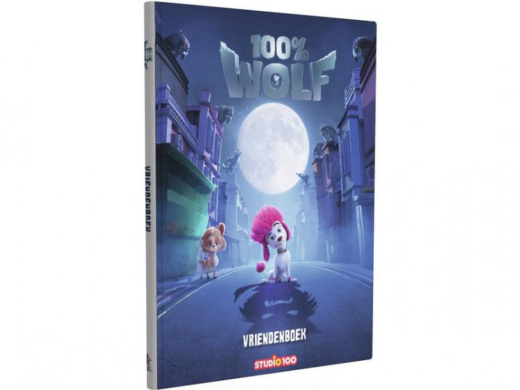 Studio 100 vriendenboek 100% Wolf junior 20,5 cm karton paars
