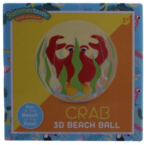 Summertastic strandbal Krab 3D 30 cm vinyl