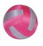 Summertime Beach Volleybal 40 cm Rood Zilver Roze