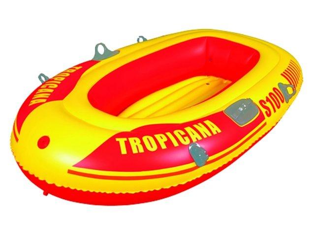 Summertime Opblaasboot Tropicana 144 x 85 cm geel/rood