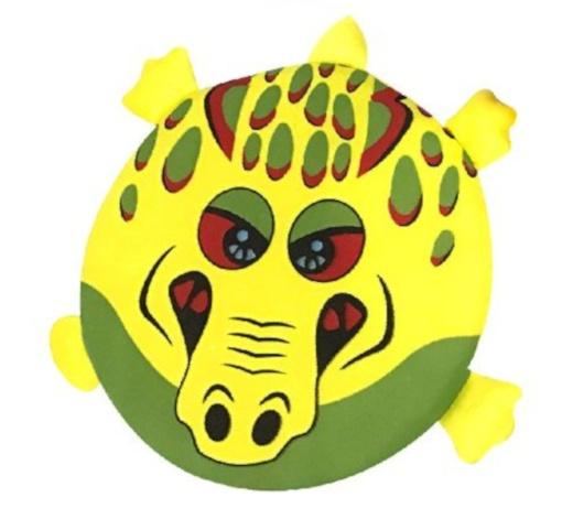 Summertime Splash frisbee Animal 20 cm foam geel/geel