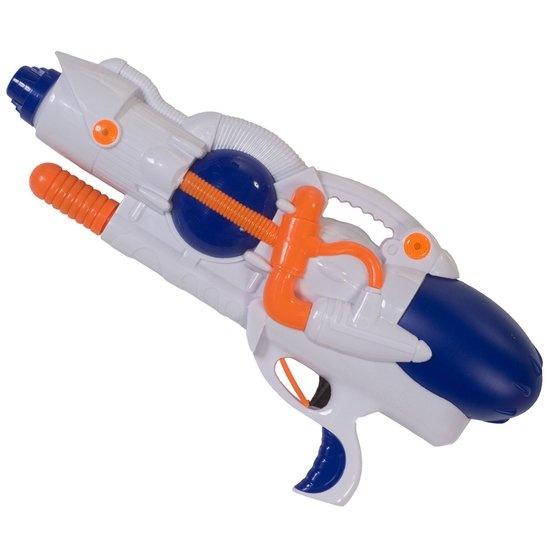 Summertime waterpistool M3000 wit/blauw kunststof 38 cm