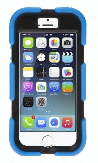 Summit iPhone 5 telefoonhoesje Sentinel rubber blauw
