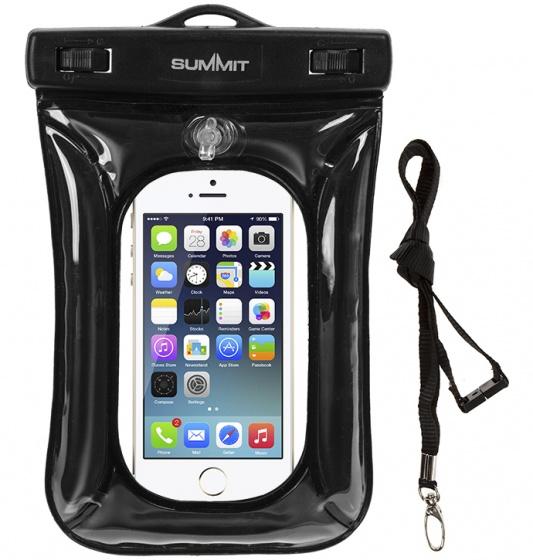 Summit waterdichte smartphone beschermhoes zwart 20 x 13 cm
