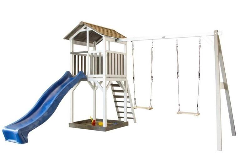 Sunny houten speelhuis Beach Tower + dubbele schommel