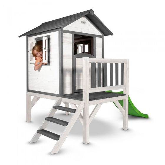 Sunny Lodge XL speelhuis grijs/wit 190 x 260 x 167 cm