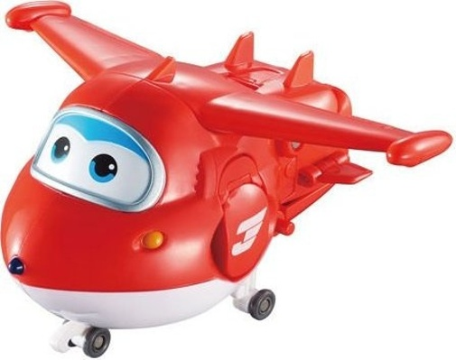 Super Wings speelfiguren Scan' Talk Flyer Jett 14 cm rood