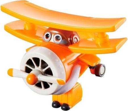 Super Wings Transform-A-Bots! Grand Albert 6 cm oranje