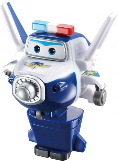 Super Wings speelfiguur Transform A Bots! Paul 6 cm wit/blauw
