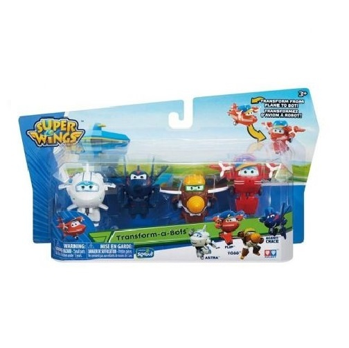 Super Wings transform-a-Bots figurenset Flip