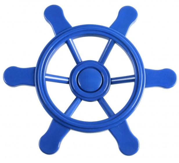 Swing King piratenstuurwiel voor speelhuisje 21,5 cm blauw