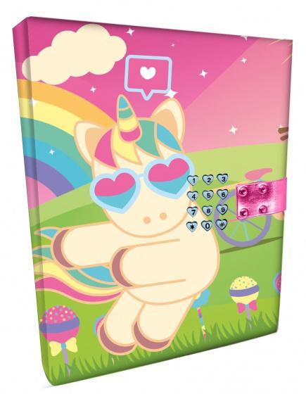 Sweet Dreams code dagboek Unicorn junior 15 x 21 cm papier