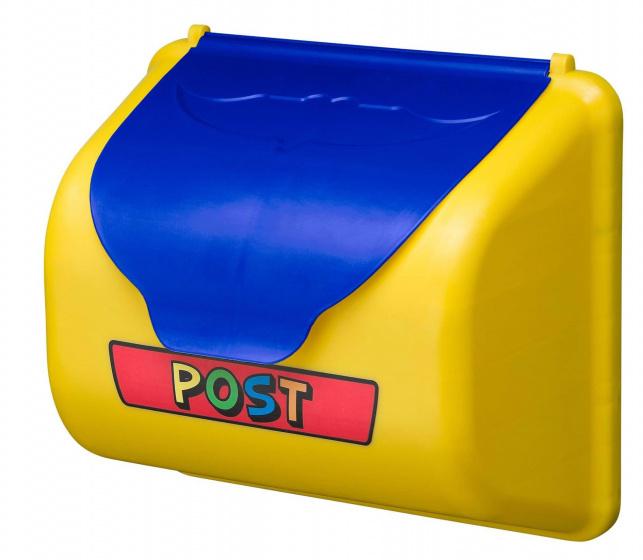 Swing King brievenbus voor speelhuisje 35 cm geel/blauw