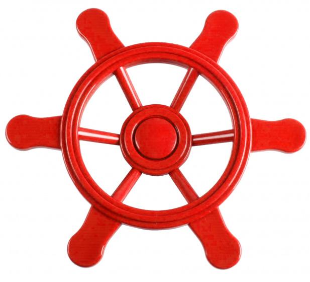 Swing King piratenstuurwiel voor speelhuisje 21,5 cm rood
