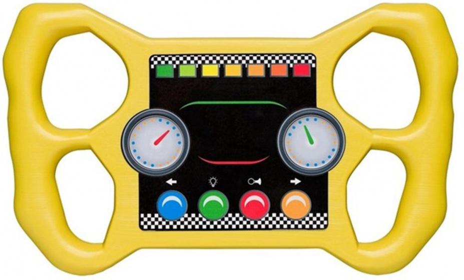 Swing King racestuur voor speelhuisje 30 cm geel