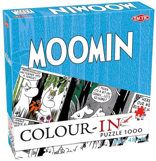 Tactic legpuzzel Colour In Puzzle Moomin wit 1000 stukjes