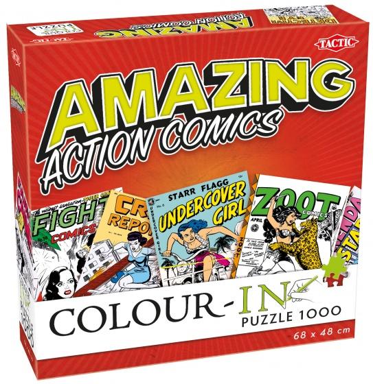 Tactic legpuzzel Colour In Puzzle Action Comics 1000 stukjes