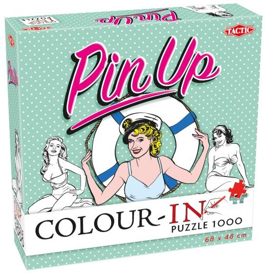 Tactic legpuzzel Colour In Puzzle Pin Up 1000 stukjes