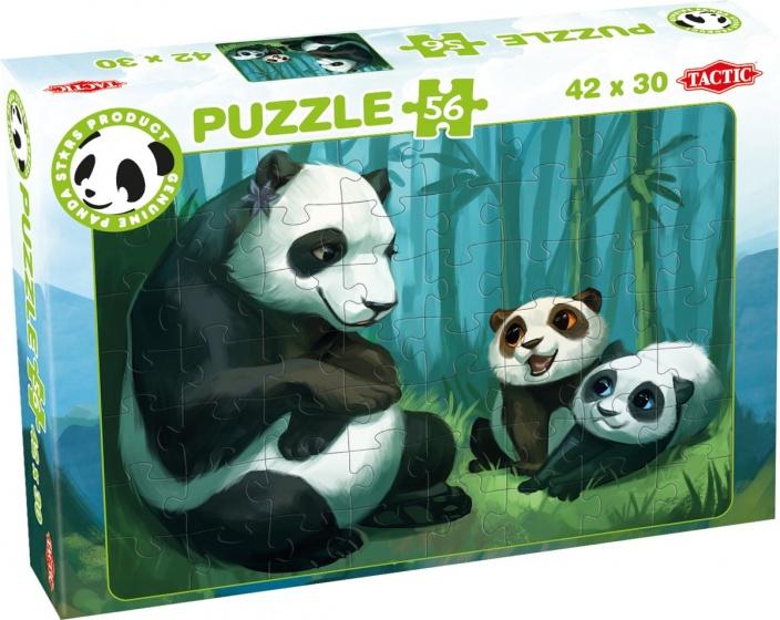 Tactic legpuzzel Panda Stars Buddies 56 stukjes