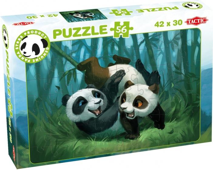 Tactic legpuzzel Panda Stars Playtime 56 stukjes