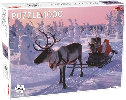Tactic legpuzzel Santa Claus in Sleigh 1000 stukjes