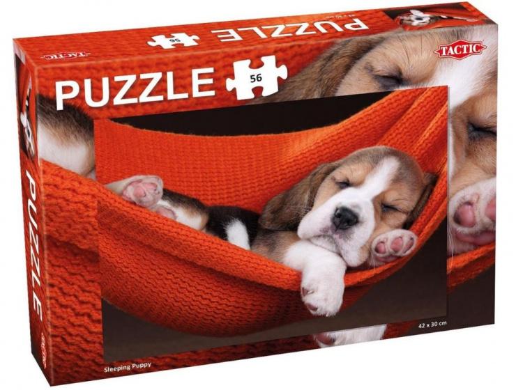 Tactic puzzel Sleeping Puppy junior karton 56 Stukjes