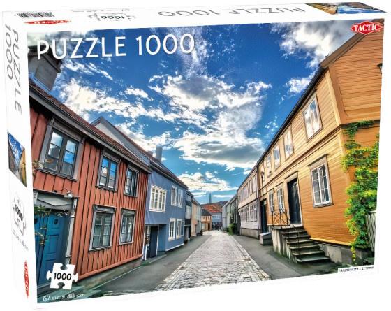 Tactic legpuzzel Trondheim oude stad 67 x 48 cm 1000 stukjes