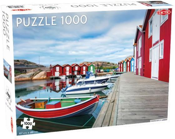 Tactic legpuzzel vissershutten in Smögen 67 x 48 cm 1000 stukjes