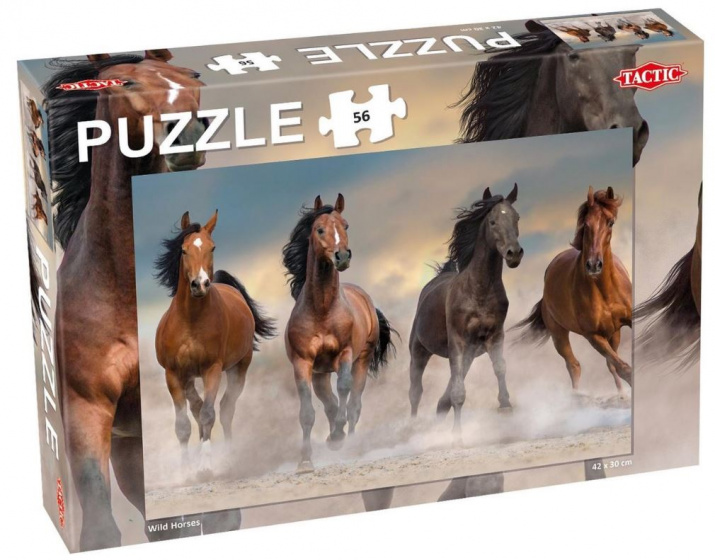 Tactic puzzel Wild Horses junior karton 56 Stukjes