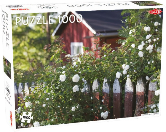 Tactic legpuzzel zomers, Fins hutje karton 67 x 48 cm 1000 stukjes