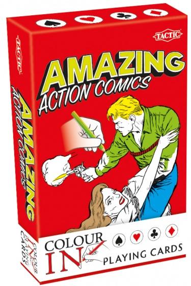 Tactic speelkaarten Colour In Amazing Action Comics