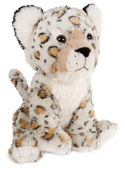 Take Me Home knuffel luipaard junior 37 cm pluche grijs