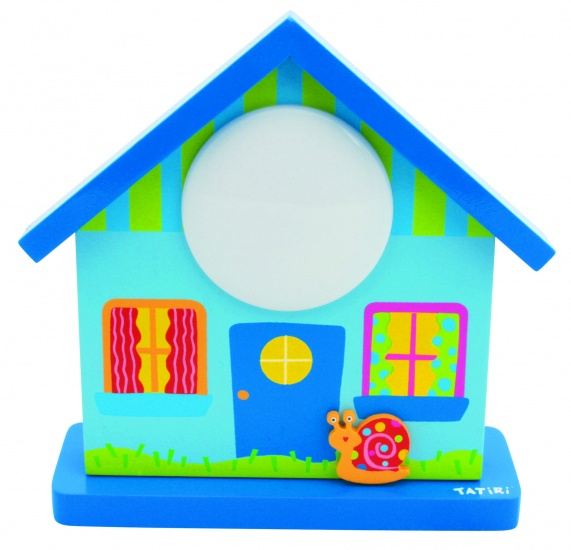 Tatiri Nachtlampje Huis Blauw