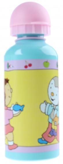 T'Choupi Bidon aluminium 400 ml geel/roze/blauw