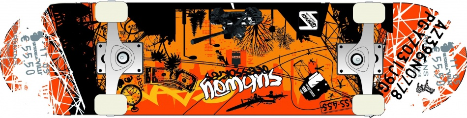 Tempish Metropol C Skateboard 79 x 20 cm zwart/oranje