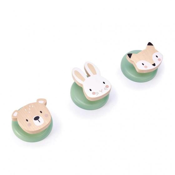 Tender Leaf Toys kapstokhaakjes junior dieren drie stuks
